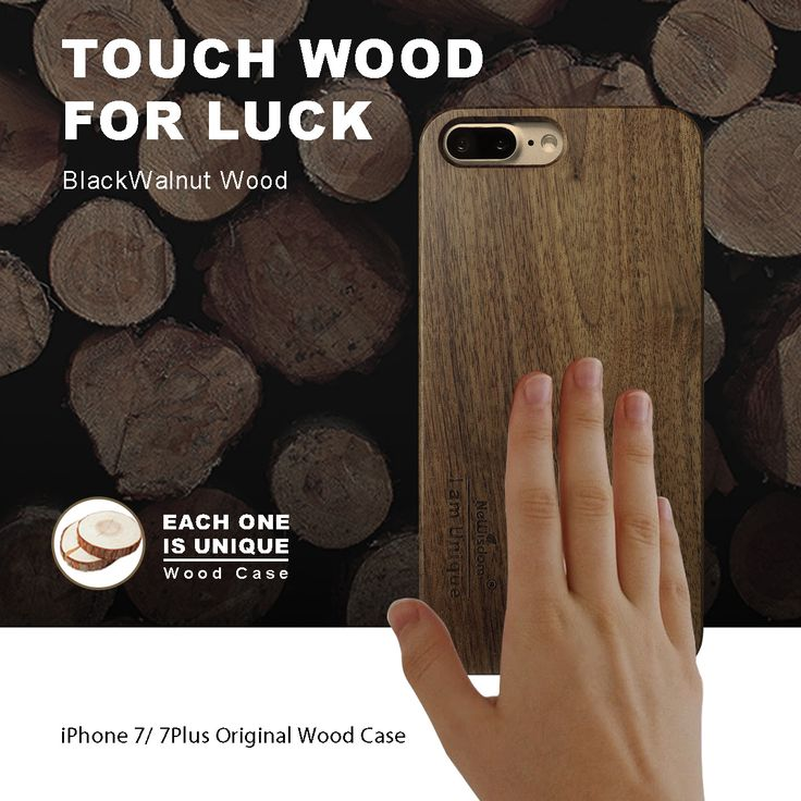 Touch wood for luck.  Handmade Blackwalnut wood case for iPhone 7 : http://amzn.to/2mtBveU Handmade Blackwalnut wood case for iPhone 7+ : http://amzn.to/2l1jmZ0   #touchwoodforluck #newisdom #woodcase #handmade #amazon #iphone7 #iphone7plus #iphone #sales #apple #bamboo #bamboocase #craft #art #gift  #birthdaygift