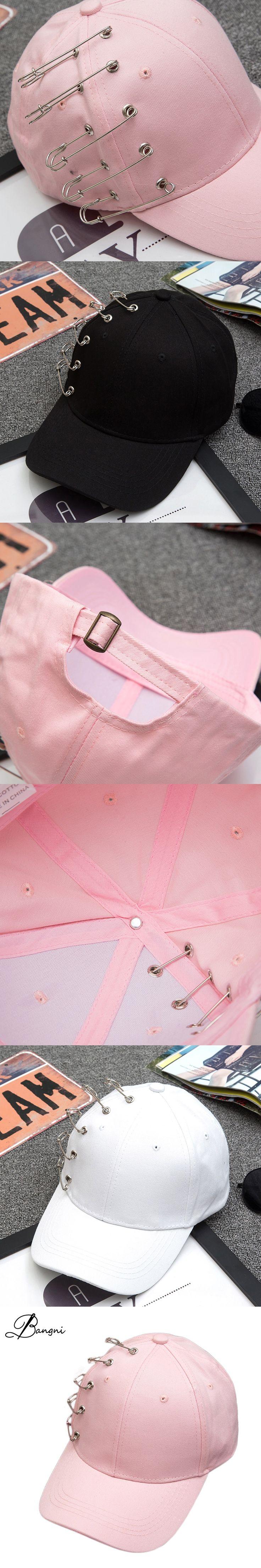 Women Black Pink White Fashion Pin Baseball Cap Snapback Caps Dad Hat Harajuku Hat For Men Gorras Bone Casquette Hip Hop Caps