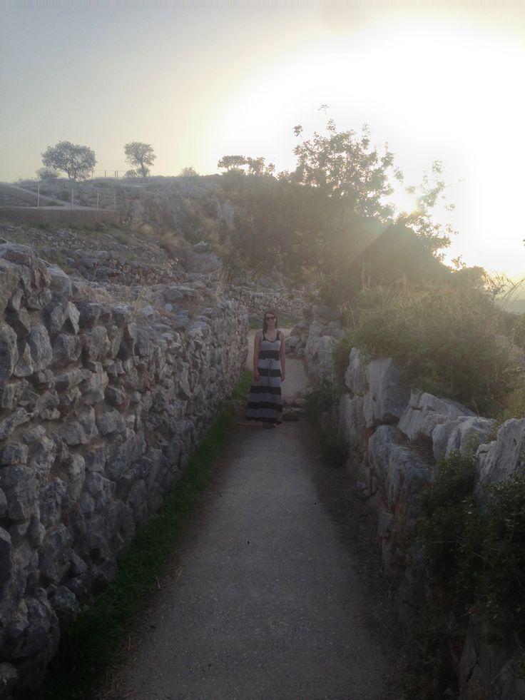 Exploring Mycenae Ruins
