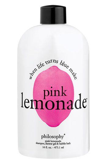 Pink Lemonade Shampoo, Shower Gel, and Bubble Bath at Philosophy.
