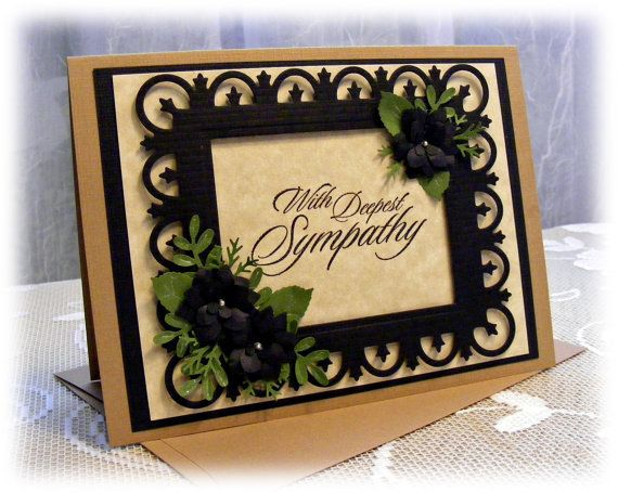 Elegant Handmade Sympathy Card with in by PineappleSoupDesigns, $4.00