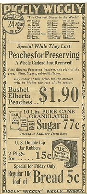Piggly Wiggly Ad (1924) I was wondering when I was going to see something from this store...  :)
