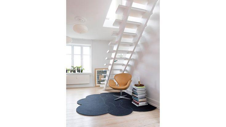 Fraster felt carpet design Soap bobble under the staircase