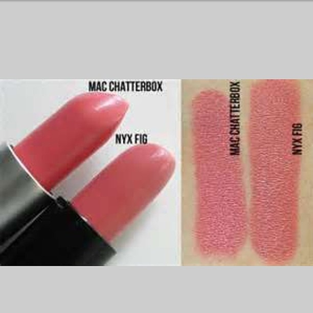 Guide : Dupe    NYX // Fig   - Dupe For -   MAC Lipstick // Chatterbox
