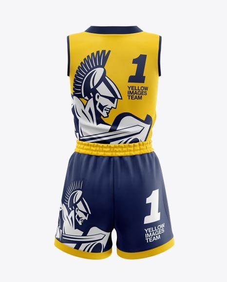 Download Free PSD Mockup Women s Basketball Kit Mockup - Back View ...