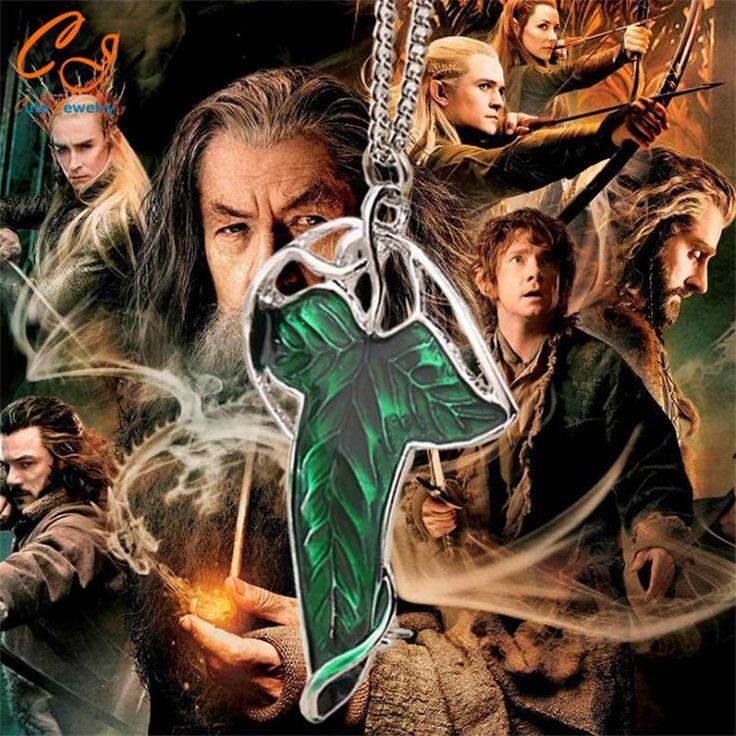 New Hot Movie Film The Lord Of The Ringer Elven Leaf Pendant Arwen Evenstar Pendant Amphibious Christmas Gift