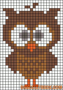 owl friendship bracelet patterns - Google Search