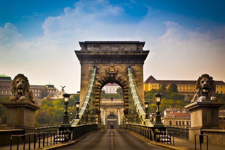Széchenyi Lánchíd (Széchenyi Chain Bridge) The Széchenyi Chain Bridge was the longest suspension bridge in Europe, and the first permanent bridge to connect the Buda and Pest sides of Budapest, when it was built in the mid-1800s. Today, it is widely regarded as the most beautiful bridge in the city. Rumor has it that its two guardian lions have no tongues— they do, you just can't see them from the ground.