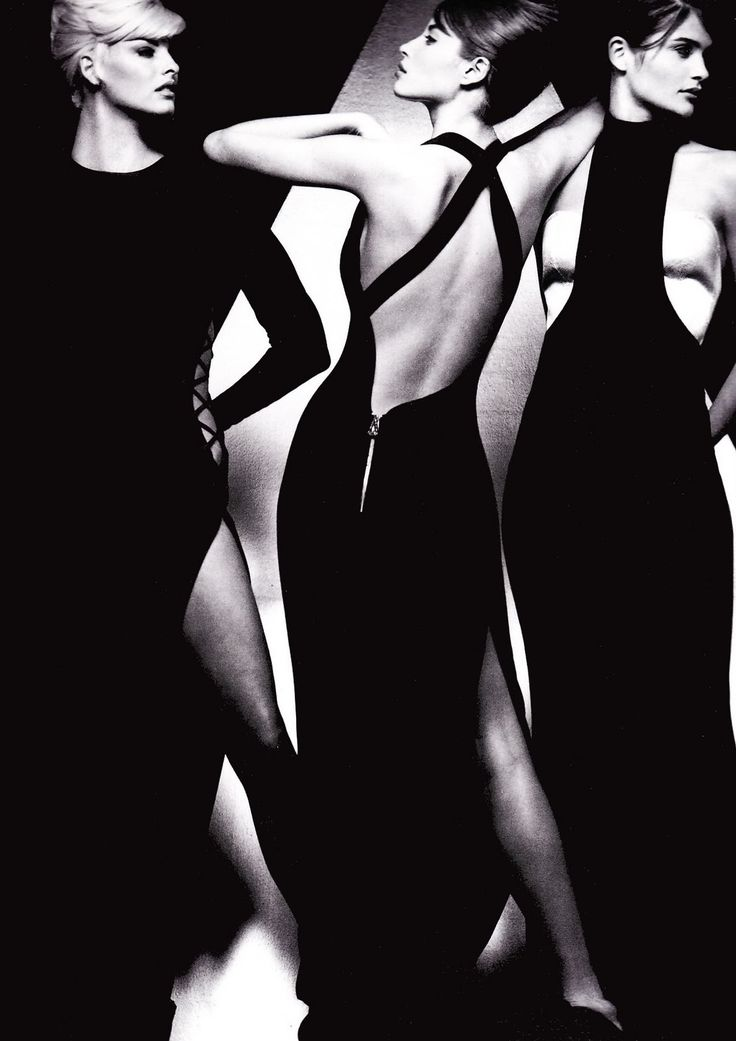 #Herb Ritts Photography|Models Linda Evangelista, Christy Turlington & Helena Christensen for Gianni Versace, 1991 (B1952-D2002)