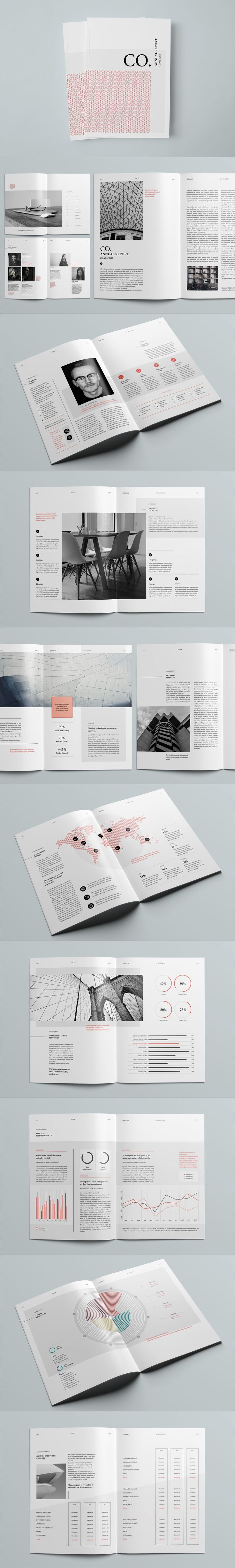 Professional, Creative and High Quality Annual Report 28 Pages A4 and US letter Template InDesign INDD