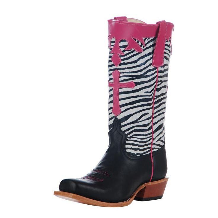 anderson bean boots | ANDERSON BEAN - Anderson Bean Kid's Black Dynatan- Zebra With Pink ...