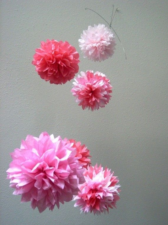 pink flower mobile