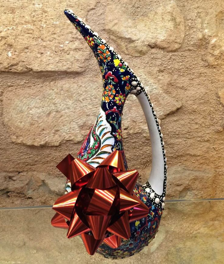 LUXURIOUS+TURKISH+CERAMIC+VASE,+20+cm,+GIFT+IDEA