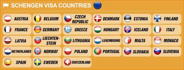 Schengen Area Countries