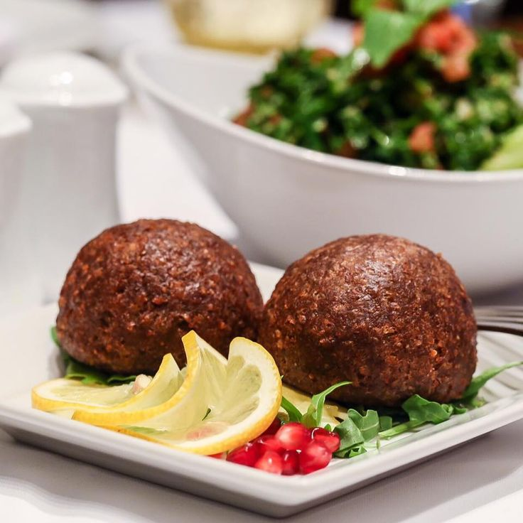 Kick start your week with lunch at Almayass and join our feast of traditional Lebanese-Armenian flavors. Today's pick: Kebbe Kras and Tabbouleh, because we think they make a perfect match!!