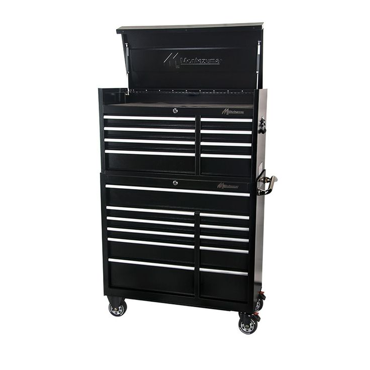 "41"" Montezuma Tool Boxes 19 Drawer Tool Cabinet & Top Chest"