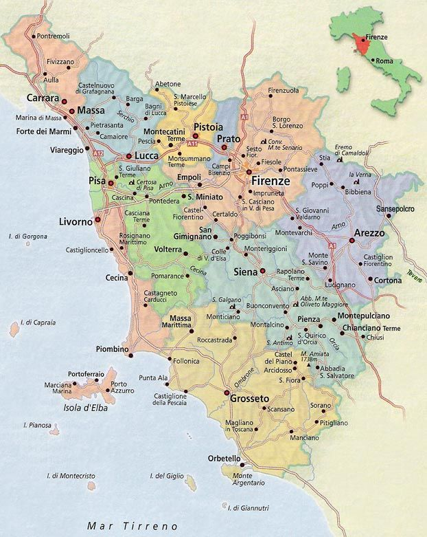 The Best Map Of Tuscany Ideas On Pinterest Tuscany Italy Map - Italy map tuscany area