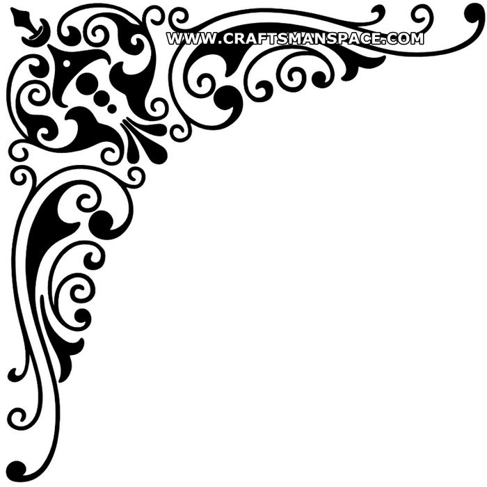 "Corner design ornament.  FREE ""PERSONAL USE""  DXF, SVG, EPS FILES."