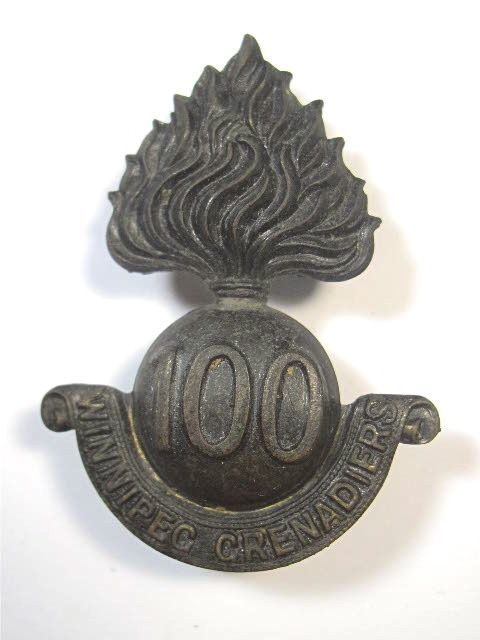 Canada: 100th Bn. (Winnipeg Grenadiers) CEF original Cap Badge. in Collectables, Militaria, World War II (1939-1945) | eBay