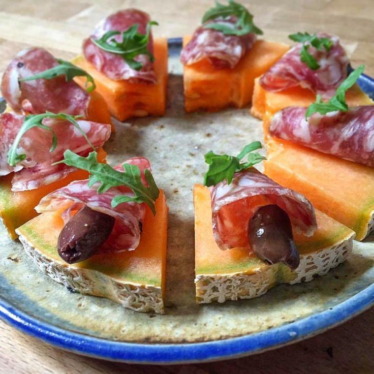 Finta pizza di melone e salame - di Monica Bergomi #fuudly #ricette