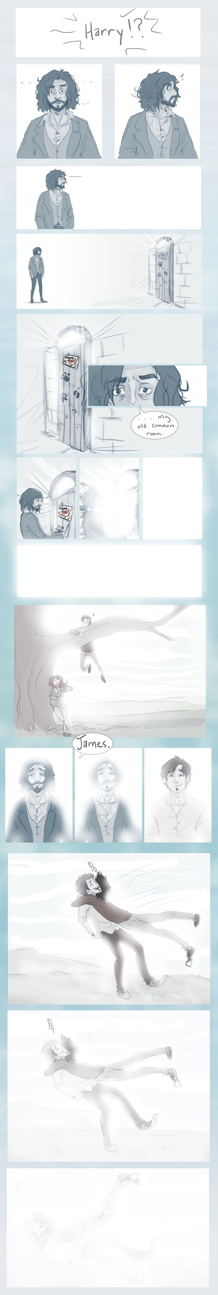 Beyond the Veil by *Avender on deviantART  Sirius Black and James Potter, beyond the Veil {sobs} >>> oh feels