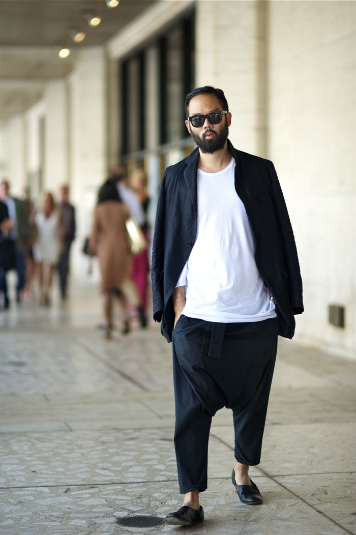 An Unknown Quantity | New York Fashion Street Style Blog by Wataru Bob Shimosato | sunglasses harem pants fashion men tumblr beard