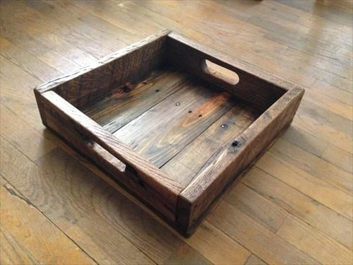 DIY Wood Rustic Pallet Tray | Pallets Furniture Designs