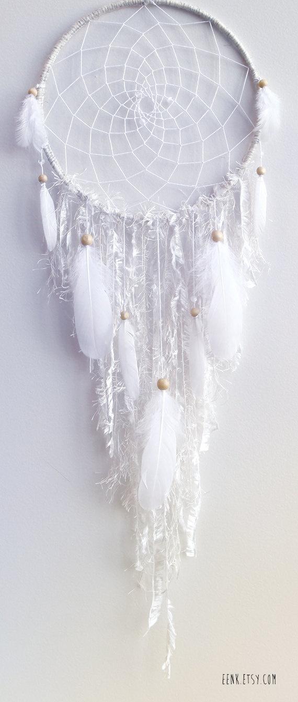 The White Arctic Fox Native Woven Dreamcatcher. $119.00, via Etsy.
