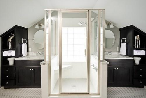 Ahhhh loooooove.Bathroom Design, Modern Bathroom, Attic Spaces, Upstairs Bathroom, Attic Remodeling, Shower, Bathroom Ideas, Attic Bathroom, Master Bathroom