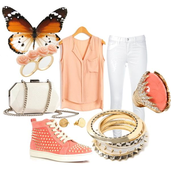 """Peaches & Cream"" by dopegeek on Polyvore"