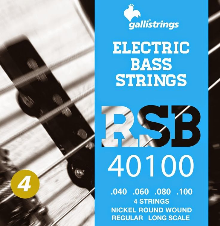 RSB 40100 4 strings nickel round wound regular .040 -.060 -.080-.100 RSB A nickel wrapped hexagonal core with a rough surface for those looking for a sparkling timbre, with a metallic sound, and long lasting. Gallistrings delivers the freshest strings stright from our facility to your instrument!