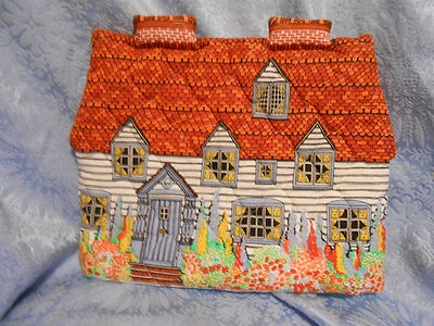 Vintage Frances Worters English Cottage Tea Cozy Cosy Made in Britain