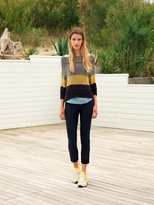 The ...à_la_fois... block color sweater. A must for this summer.