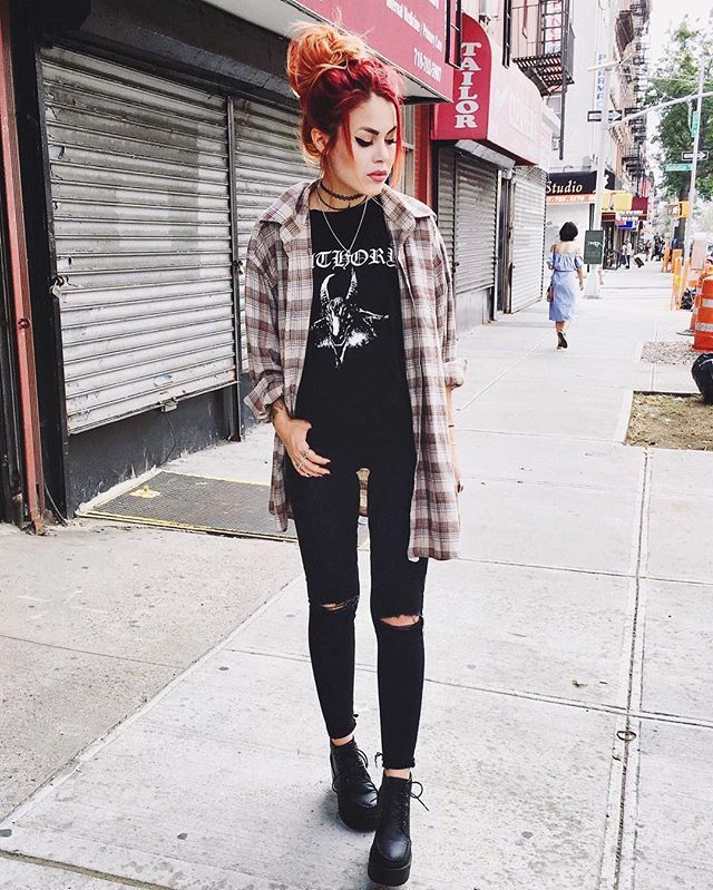 WEBSTA @ luanna90 - when in doubt, throw on a flannel