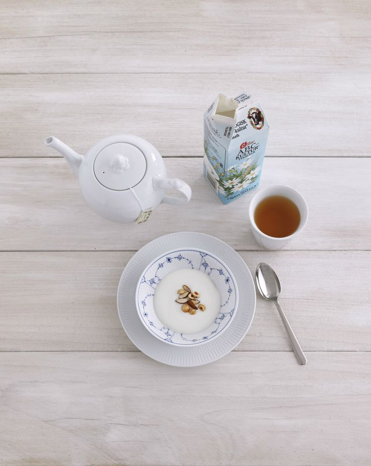 Breakfast with White Fluted and Blue Fluted Plain from Royal Copenhagen