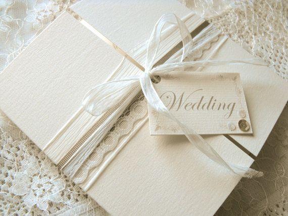 Lace Wedding Invitation Mocha by samanthageen on Etsy, £2.80