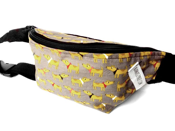 Dog's fanny pack - large size, waterproof, zippered pocket inside by NaMaszynie on Etsy