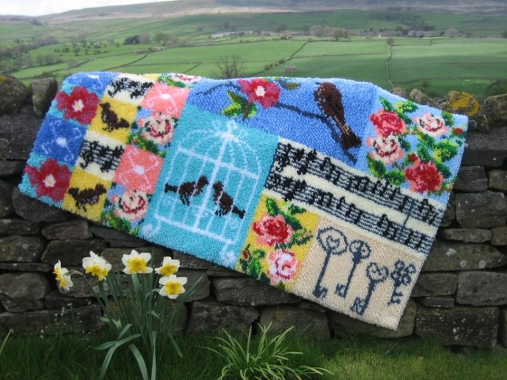 Utterly Hooked Designs Original Bespoke Colourful For Latch Hook Rug And Cushion Kits Plus Canvas Tools Super Pre Cut