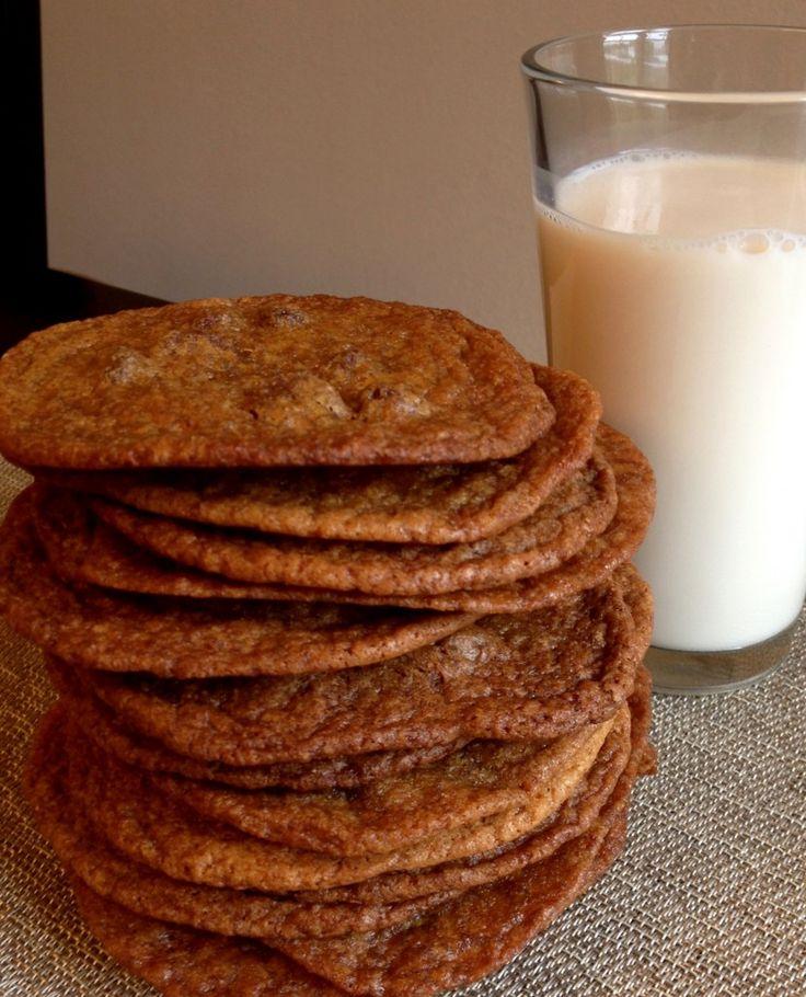 brown sugar chocolate chip cookies (cow chip cookies) - The Cookie Rookie