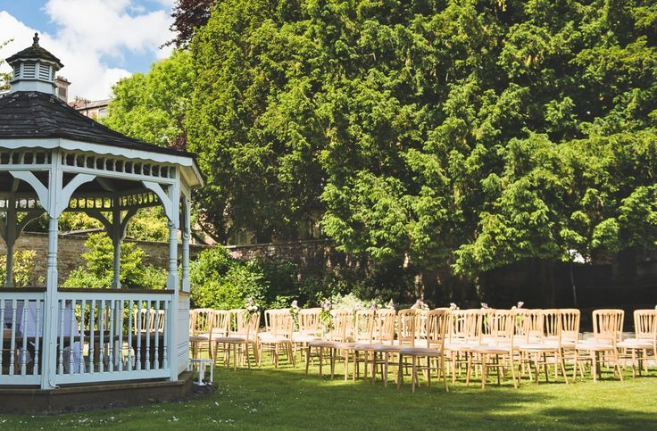 Outdoor garden wedding ceremony styling #gazebo | The Mansion House, Bristol | www.theplanninglo... | Image courtesy of http://www.lifeinfocusphotography.co.uk/