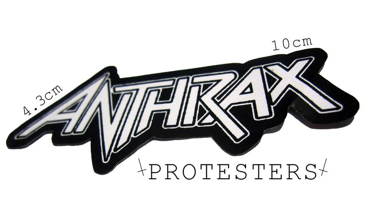 Jual sticker band metal anthrax protesters distro