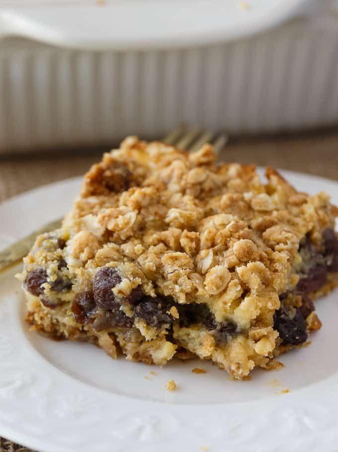 Sour Cream Raisin Bars Recipe Raisin Recipes Dessert Recipes Sour Cream Raisin Pie