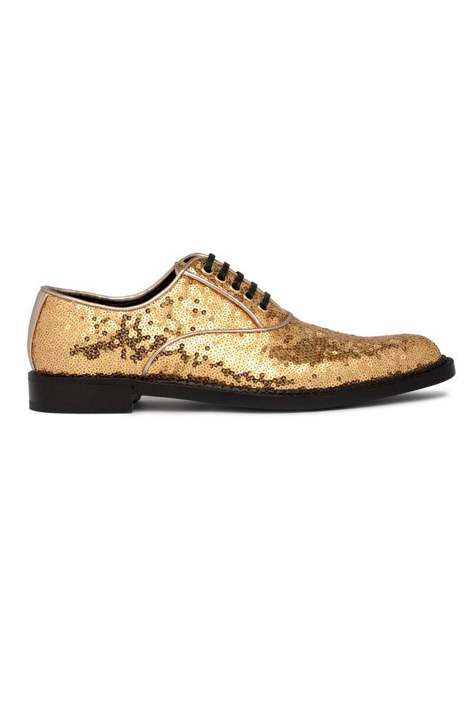 Zapatos de lentejuelas dorados!