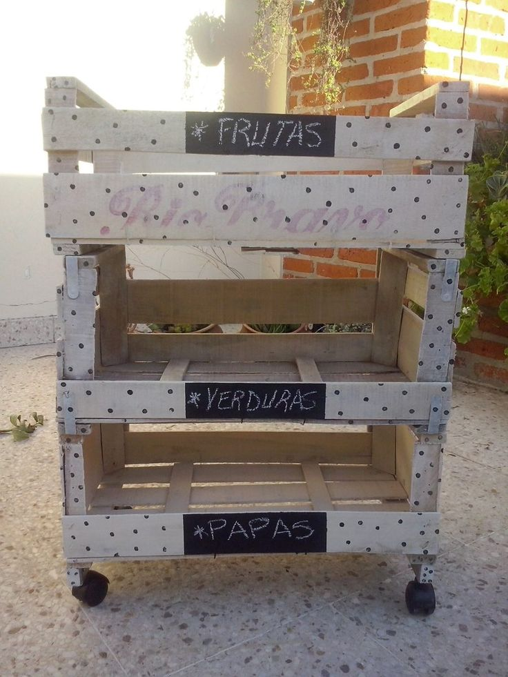 M s de 1000 ideas sobre cajones de verdura en pinterest - Cajones de fruta de madera ...
