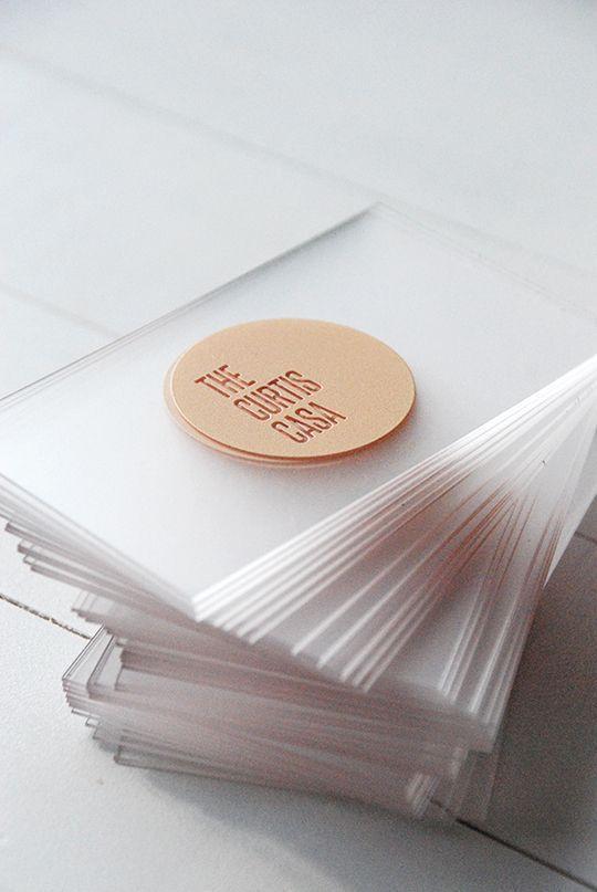 Such a sleek business card design: Acrylic Business Cards, Awards Atlanta Compan...