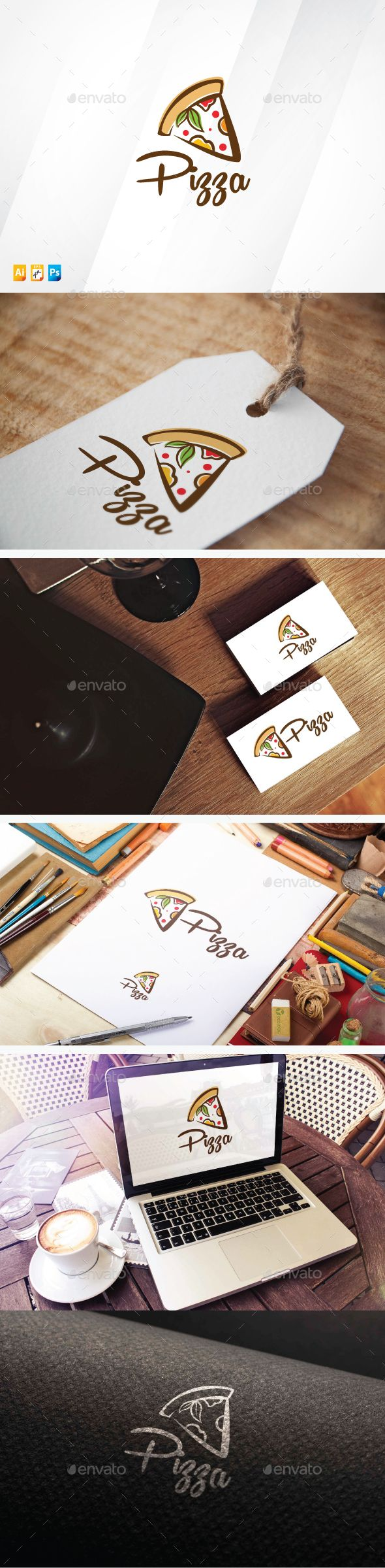 Organic Pizza — Photoshop PSD #vegetable #bakery • Available here → https://graphicriver.net/item/organic-pizza/13315958?ref=pxcr