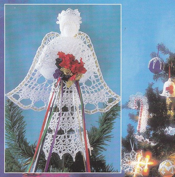 Crochet Angel Baptism Gift Christmas Lace Angel Ornament Tree: 215 Best Images About Crochet