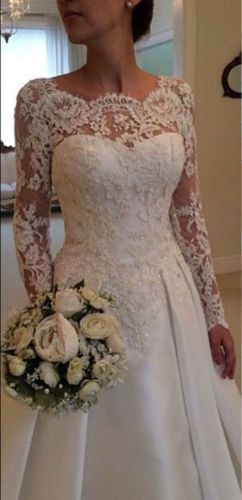 Sexy backless White/Ivory long sleeve Lace Wedding Dress Bridal Gown Custom Size in Clothing, Shoes & Accessories, Wedding & Formal Occasion, Wedding Dresses | eBay