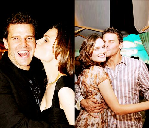 Emily Deschanel & David Boreanaz Too bad they're not a real couple. They're perfect together