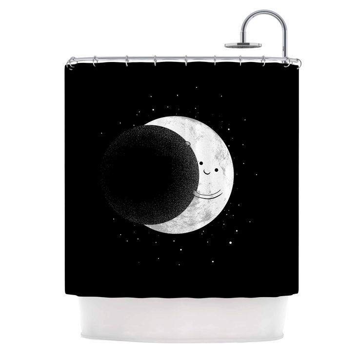 "Kess InHouse Digital Carbine ""Slideshow"" Black Kids Shower Curtain"